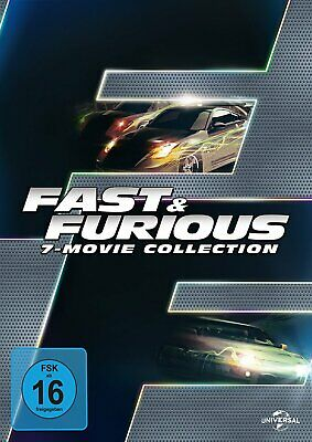Fast & Furious 1+2+3+4+5+6+7 - Movie Collection # 7-DVD-BOX-NEU (The,and)