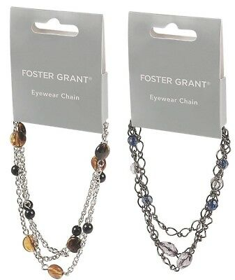Foster Grant Glasses Sunglasses Spectacles Chain Cord Holiday Travel Accessory