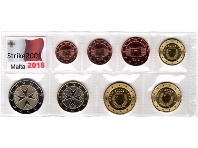NEW !!! Euro MALTA 2018 - 8 PZ FDC in Blister - NEW !!!