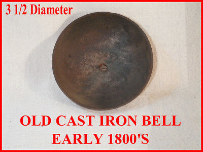 """3 1/2"""" Cast Iron Bell-From Jerome And Darrow Clock-Early 1800's"""