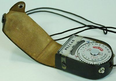 A Pallas exposure meter from the 60's. Does not require batteries.