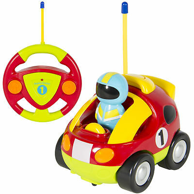 BCP 2 Channel Kids Beginner Remote Control Cartoon Racing Car Perfect Gift