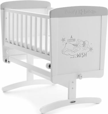 Obaby DISNEY WINNIE THE POOH GLIDING CRIB DREAMS & WISHES Wooden Nursery BN