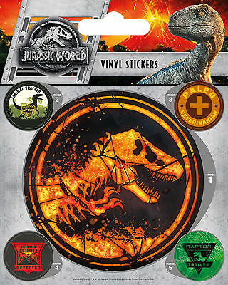 Jurassic World - Fallen - Stickerset Set 5 Sticker Aufkleber - ca. 10x12,5 cm