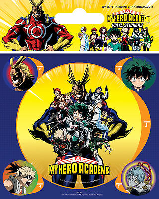 My Hero Academia - Group - Stickerset Set 5 Sticker Aufkleber - ca 10x12,5 cm