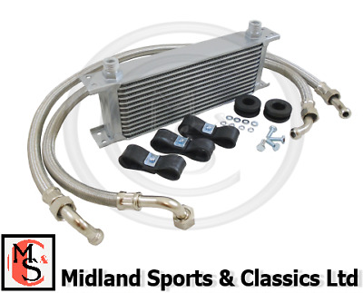 Bek147S - Mgb 13 Row Oil Cooler With S/s Braided Hoses & Fittings - 3Sync Ara221