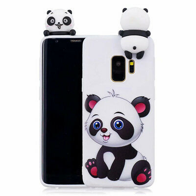 Cute 3D Cartoon Animals Silicone Phone Case Cover For Samsung Galaxy S7 S8 Note