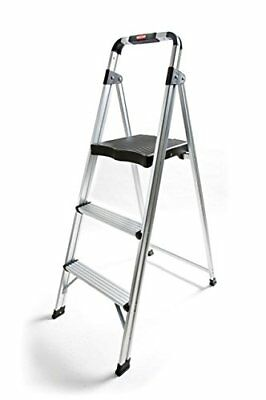 Non-slip 3 Step Aluminum Ladder Folding Platform Stool 225lbs Load Capacity New