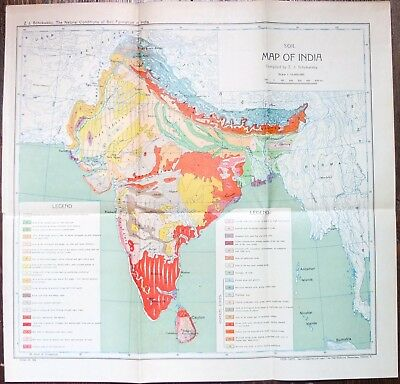 Soil Map of India Russian Edition 1932