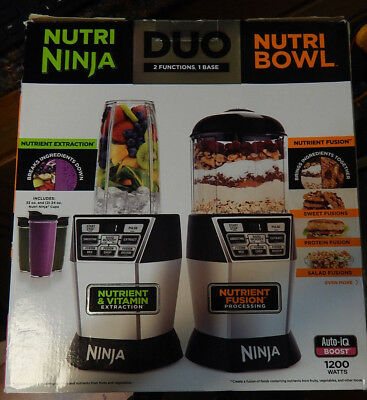 NEW!!  NUTRI NINJA Nutri Bowl DUO with Auto-iQ Boost 1200 watt - NN101 30