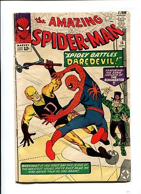 Amazing Spider-Man #16 VINTAGE Marvel Comic Silver Age KEY 1st Daredevil X-Over