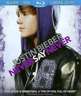 Justin Bieber: Never Say Never (Blu-ray/DVD, 2011, 2-Disc Set) NEW