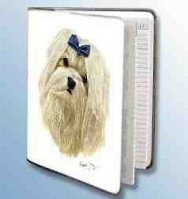 Retired Dog Breed MALTESE Vinyl Softcover Address Book by Robert May