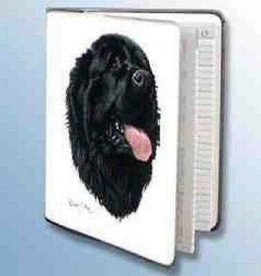 Retired Dog Breed NEWFOUNDLAND Vinyl Softcover Address Book by Robert May