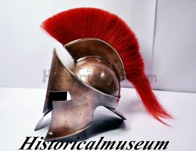 MOVIE HELMET 300 Spartan King Leonidas Medieval Roman Helmet Greek HANDMADE S3LS