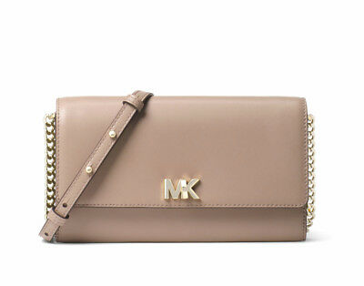 Good Prices newest selection classic fit MICHAEL KORS MOTT Leather Crossbody Clutch Truffle New NWT