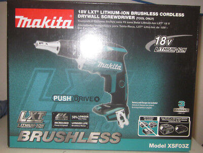 Makita XSF03Z 18V LXT Lithium‑Ion Brushless Cordless Drywall Screwdriver NEW!