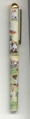 Writing Pen JACK RUSSELL TERRIER Dog Smooth Rollerball Black Ink Pen Refillable