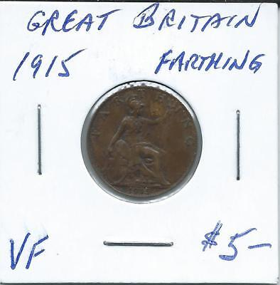 Great Britain 1915  Farthing