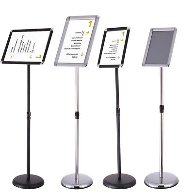 A3 A4 Adjustable Sign Holder Pedestal Telescoping Stand Swivel Face 2 Colors