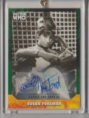 Doctor Who Signature Series CAROLE ANN FORD Autograph Trading Card 16/50