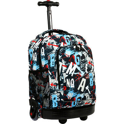 J World New York Sunny Rolling Backpack 8 Colors
