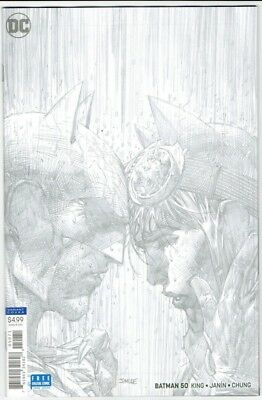 Batman #50 1:100 Jim Lee Pencils Variant Dc Comics Wedding Catwoman 7418