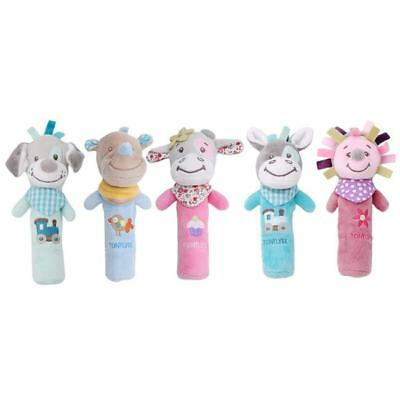 New Baby Animal Shaped Hand Bell Rattles Plush Soft Toy Newborn kids Toys LC