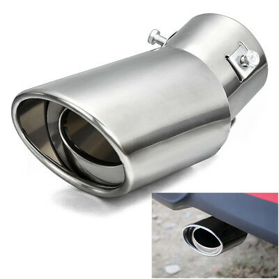 New Universal Car Round Stainless Steel Chrome Exhaust Tail Muffler Tip Pipe H7
