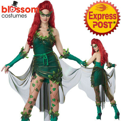 C809 Lethal Beauty Poison Ivy Batman Womens Ladies Halloween Fancy Dress Costume
