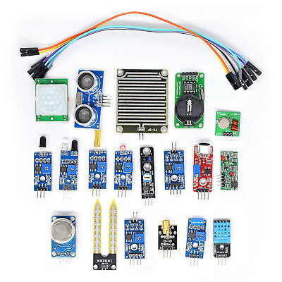 New 16pcs Sensor Module Board Kit for Arduino Raspberry Pi 3 B+ 2 Model B