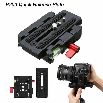 P200 Quick Release Clamp Base Plate Adapter for Manfrotto 500 AH 701 503 HDV 577