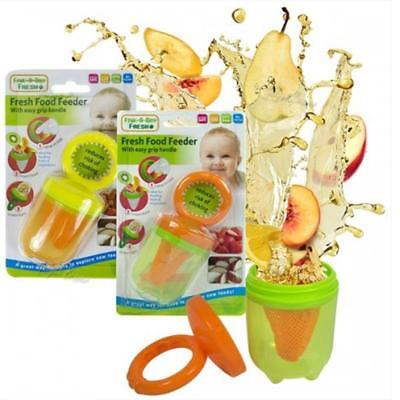 Baby Fresh Food Feeder Fruit Vegetables Weaning Wean Easy Grip Handle