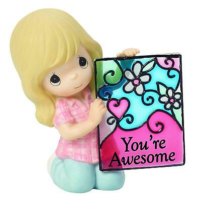"""NEW Precious Moments """"YOU'RE AWESOME"""" Porcelain Bisque Figurine 154055 sign gift"""