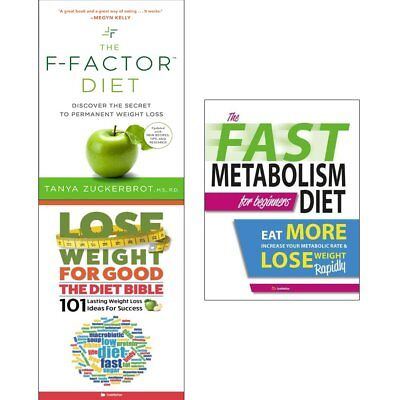 F-Factor Diet,Lose Weight For Good,Fast Metabolism Diet 2 Books Collection Set