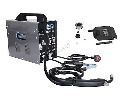 SwitZer 120Amp Gasless Welder Welding Inverter Machine With Kit Mask MIG130 Grey
