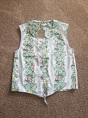 BNWT Girls Tie Front Floral Blouse Age 10 RRP £12
