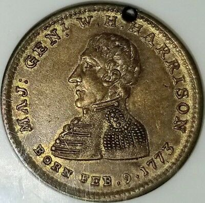 HT-815 1840 William Henry Harrison Token, NGC AU58