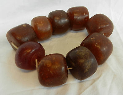 Antique African Amber Trade Beads - Large Chunky Beads