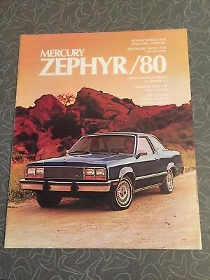 1980 Mercury Zephyr Car Auto Dealership Advertising Brochure
