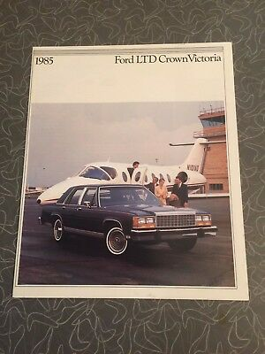 1985 Ford LTD Crown Victoria Car Auto Dealership Advertising Brochure