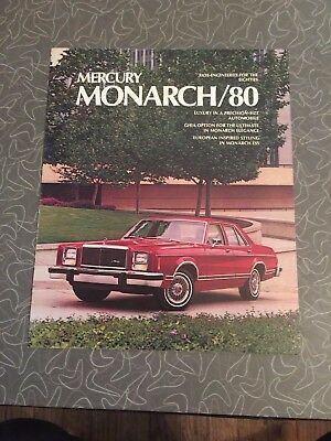 1980 Mercury Monarch Car Auto Dealership Advertising Brochure