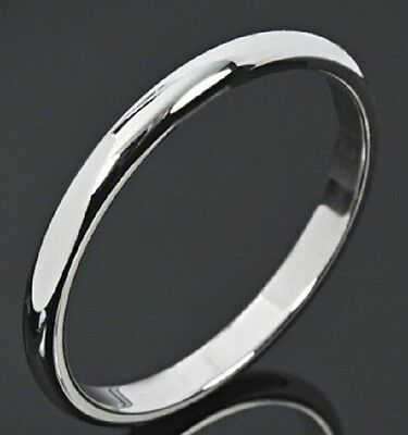 Mens Or Womens 3Mm Round Dome  Wedding Ring Wedding  Band Str211 316L Steel