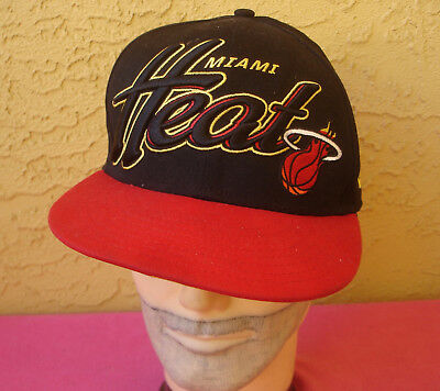 online store 6898f 127a9 MIAMI HEAT Basketball NBA HWC New Era 59Fifty Snapback Baseball Cap Hat