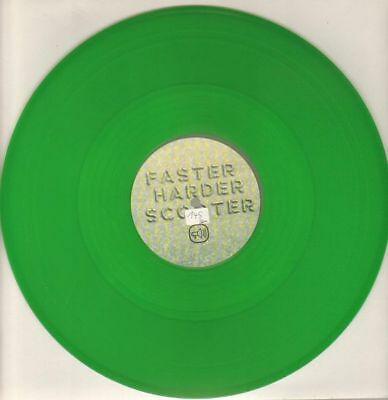 Scooter Faster Harder Scooter GREEN TRANS VINYL Vinyl Single 12inch Club Too