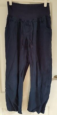 Mothercare Blooming Marvellous Blue Over Bump Trousers 18 combine postage
