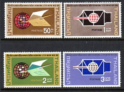 1968 THAILAND INTERNATIONAL CORRESPONDENCE WEEK SG611-614 mlh & muh