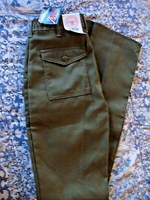 NOS Boy Scouts of America Uniform Pants Un-hemmed Action Fit Cargo Youth 26x30