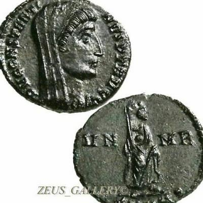 Rare CONSTANTINE The Great Shrouded VN-MR Ancient Roman Imperial Coin Nicomedia