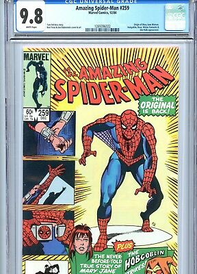 Amazing Spider-Man #259 CGC 9.8 Origin Mary Jane Watson Marvel Comics 1984